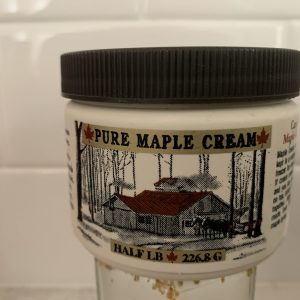 Pure Maple Syrup log cabin label